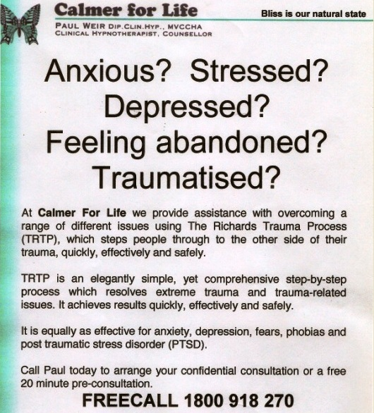 Anxious? Stressed? Depressed? Feeling abandoned? Traumatised?