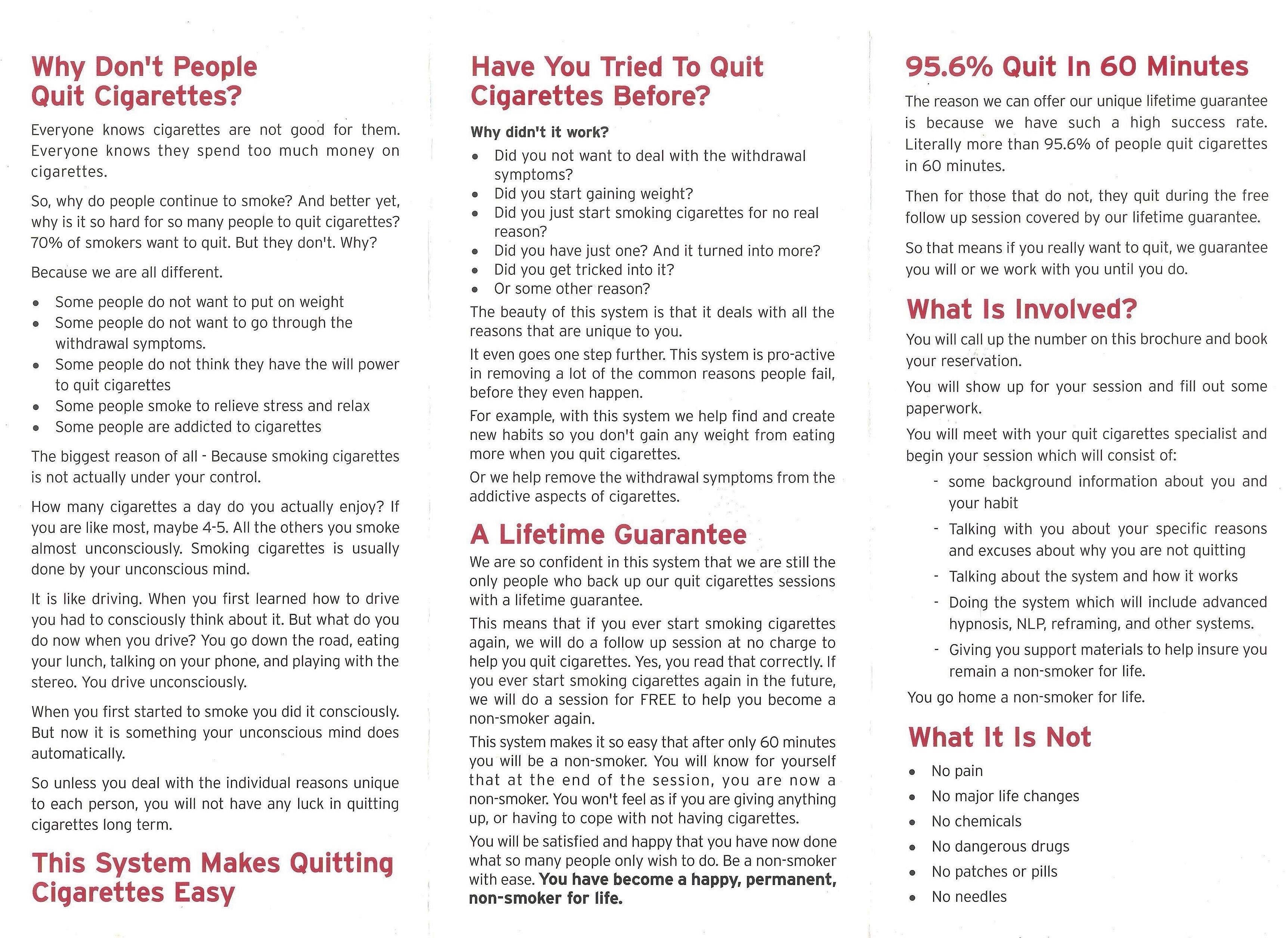Quit Cigarettes in 60 Minutes - Guaranteed!
